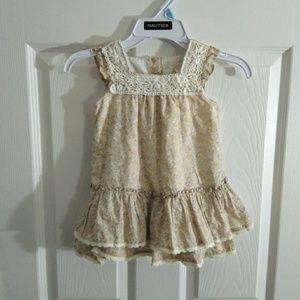 Maggie & Zoe beige toddler dress size 18 months